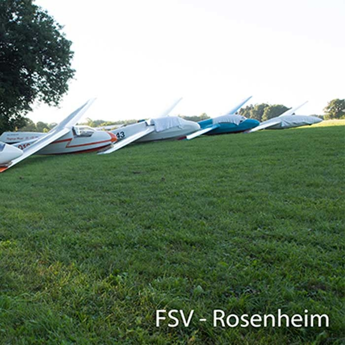 Segelflugzeugpark vom FSV Rosenheim
